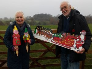 Paul and Grace Bishop, who created the new community Christmas trail