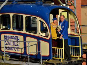 Bridgnorth Cliff Railway chairman Dr Malvern Tipping with Eileen Tipping