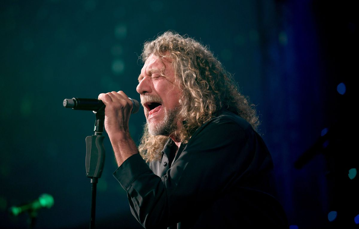 Logan's famous dad, Robert Plant, in action. Photo: AMA