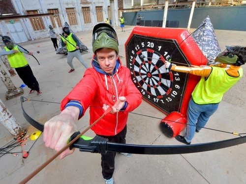 Dodge that! Tag archery comes to Shrewsbury's Flaxmill - with video and pictures