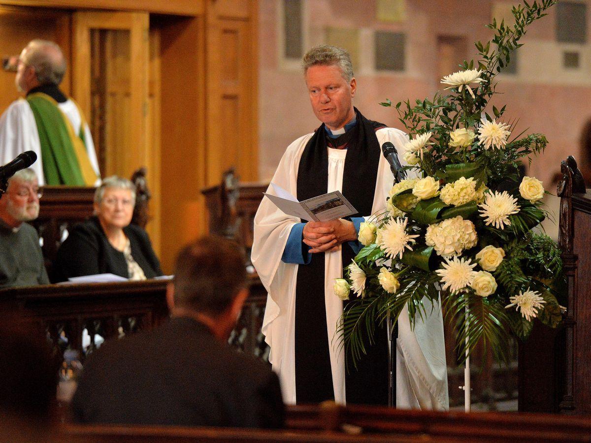 The Reverend Preb Simon Cawdell who led the service