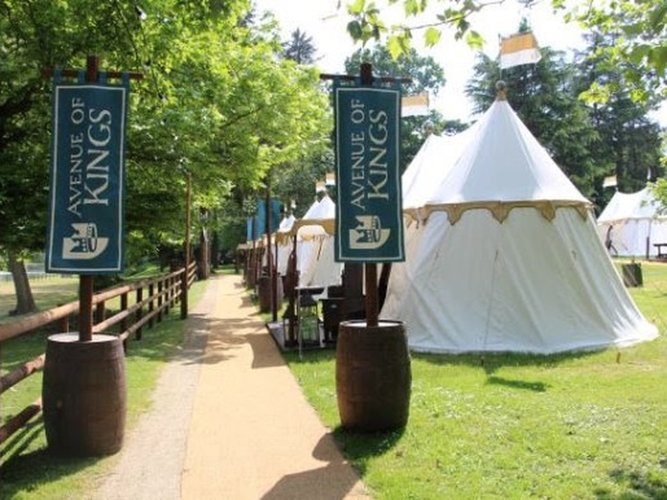 Warwick Castle opens glamping tents