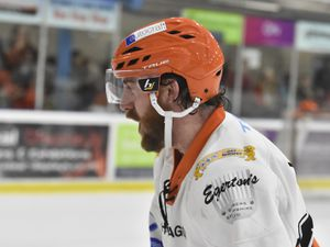 Scott Mckenzie after the winSwindon Wildcats v Telford Tigers 22/2/20 by Steve Brodie