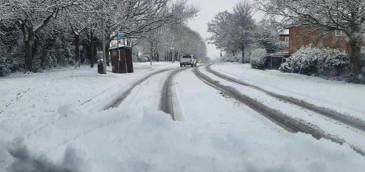 The snow in Stirchley, Telford. Photo: Jase Garton