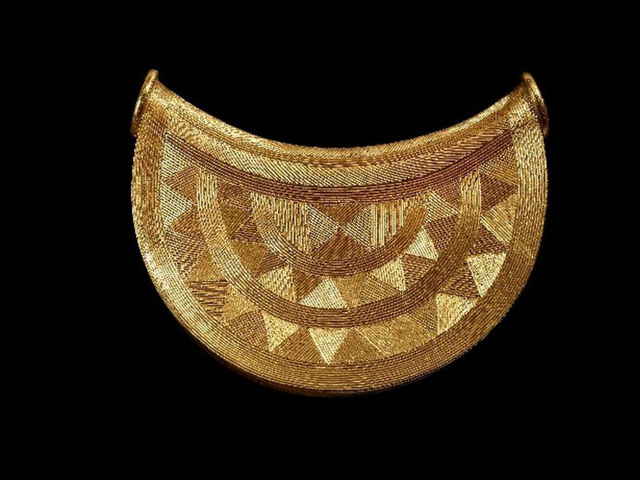 The sun pendant was found at a secret location in Shropshire. It will be displayed at Shrewsbury Museum from September.