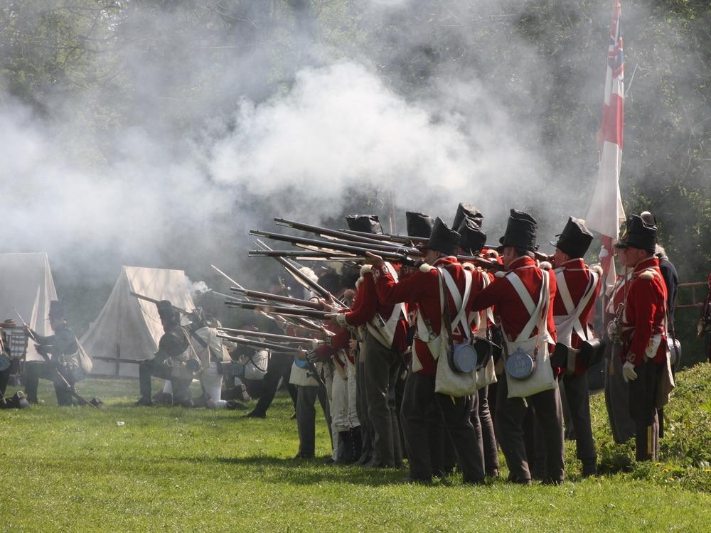 Ready, aim, fire for Whittington Castle war re-enactment