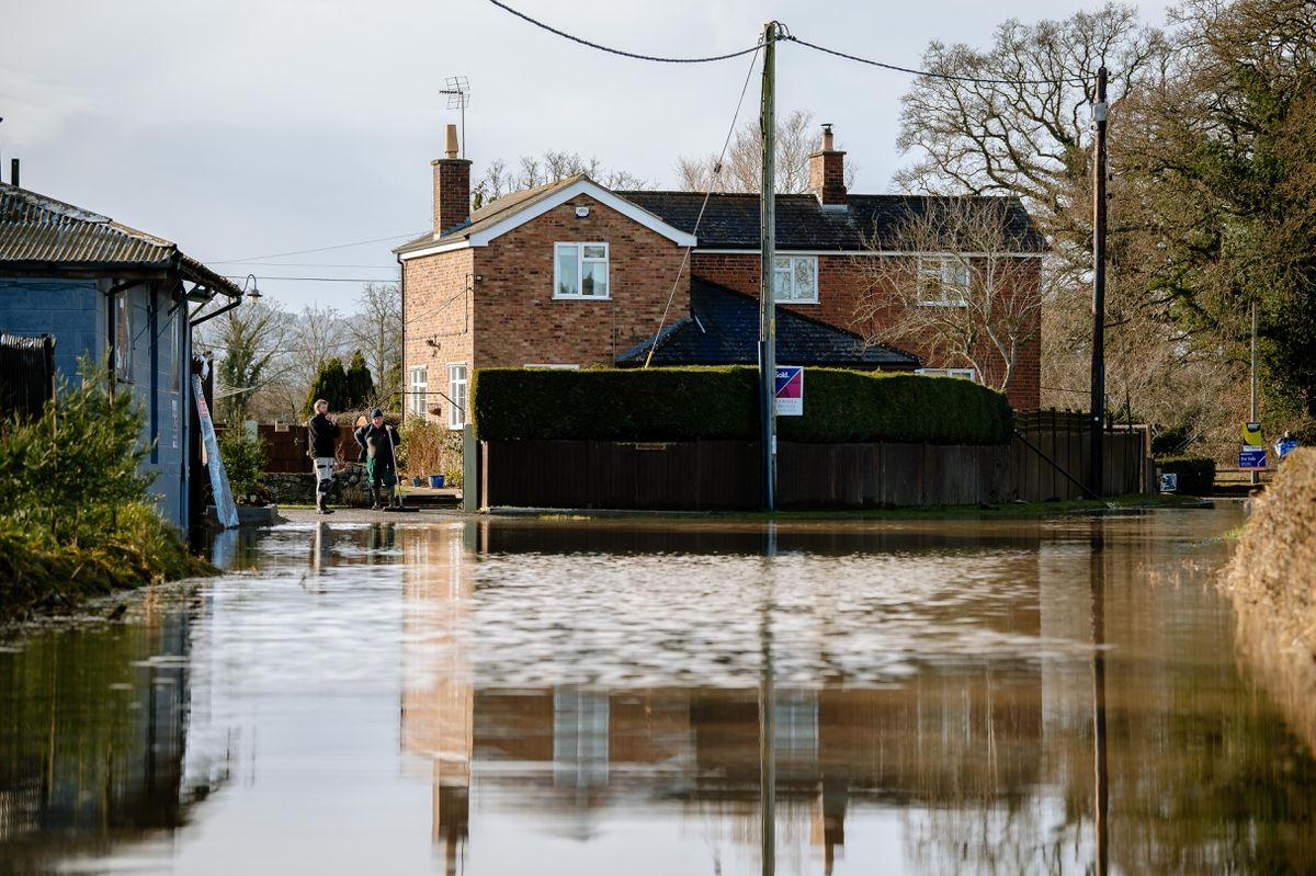 Flooding in Pentre near Nesscliffe