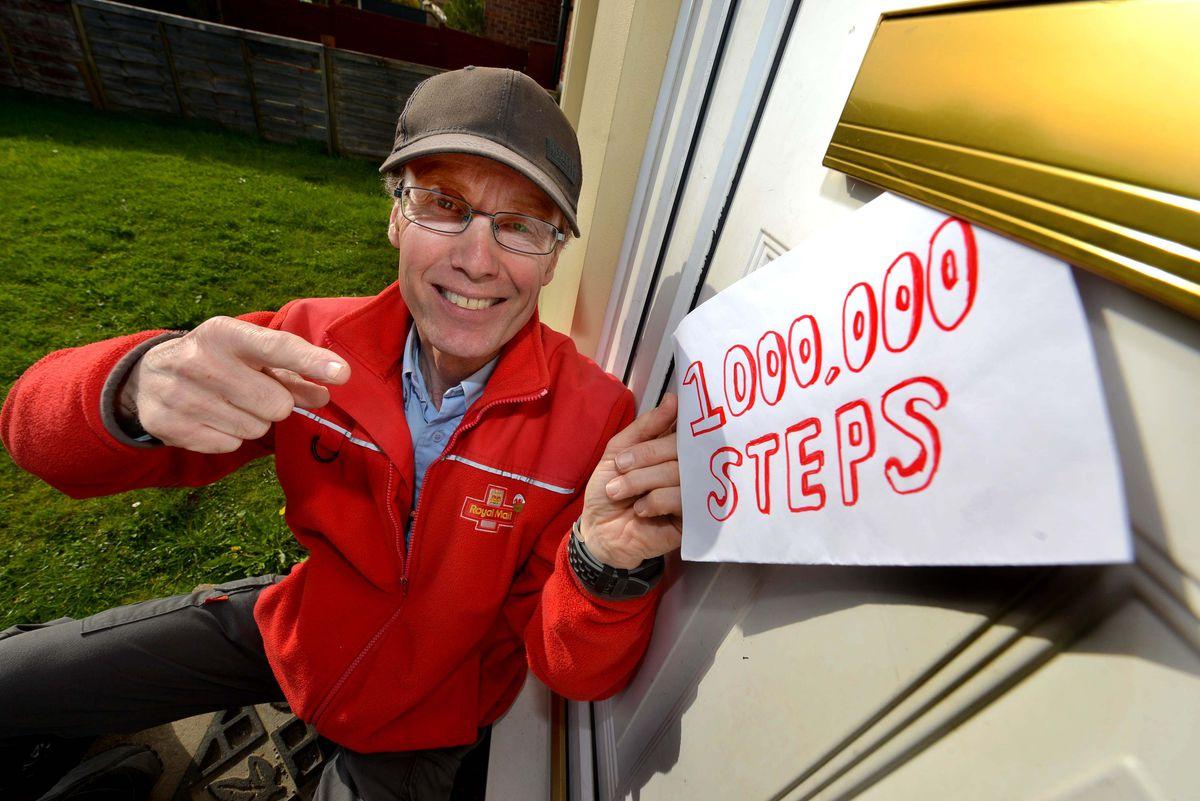 In total, David Huges walked 1,281,516 steps in May