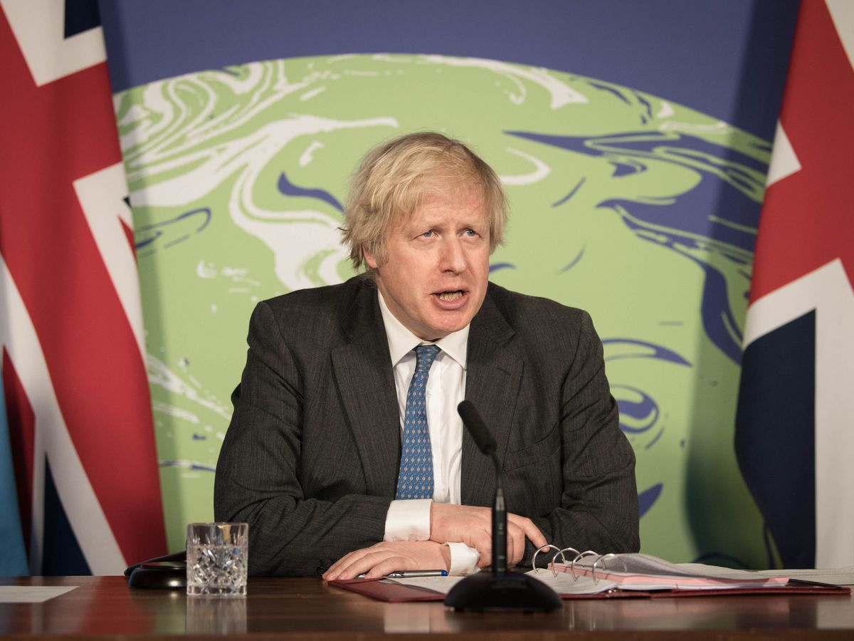 Boris Johnson chairs a session of the UN Security Council on climate and security