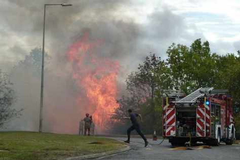 Fire Destroys Pallets On Telford Industrial Estate Shropshire Star