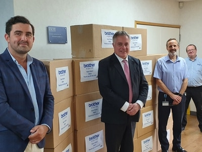 MP visits firm to thank them for PPE efforts