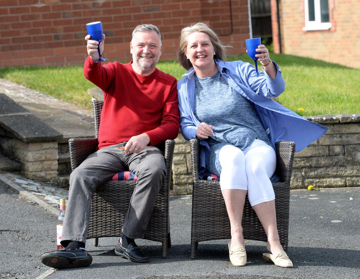 Karen and Steve Marshall join in