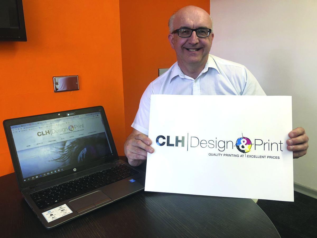 Carl Hajdasz, owner of CLH Design & Print in Broseley Wood