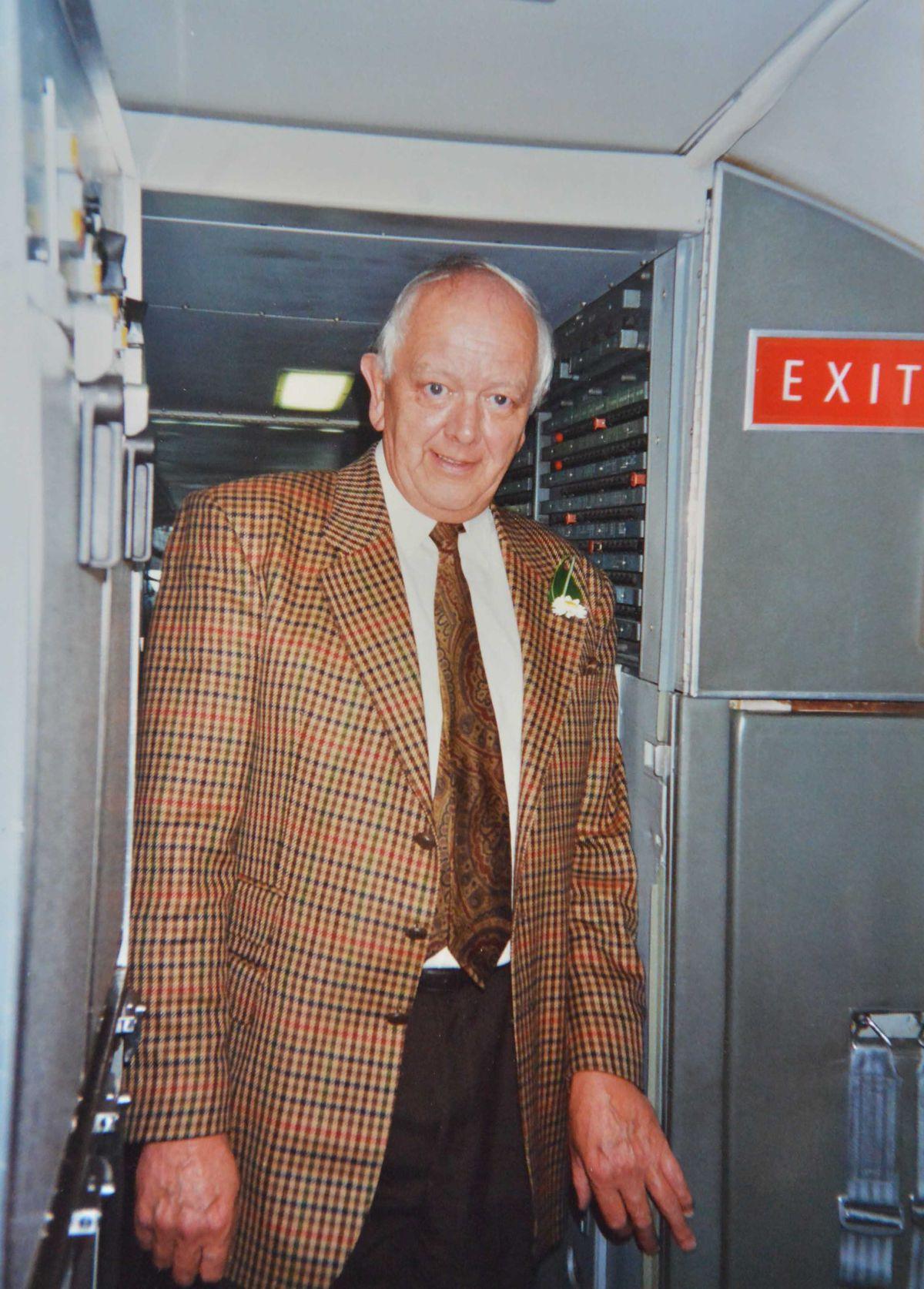 Alan on board Concorde