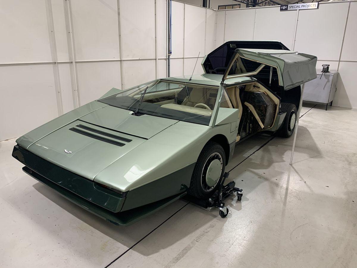 Work to restore the Aston Martin Bulldog is underway