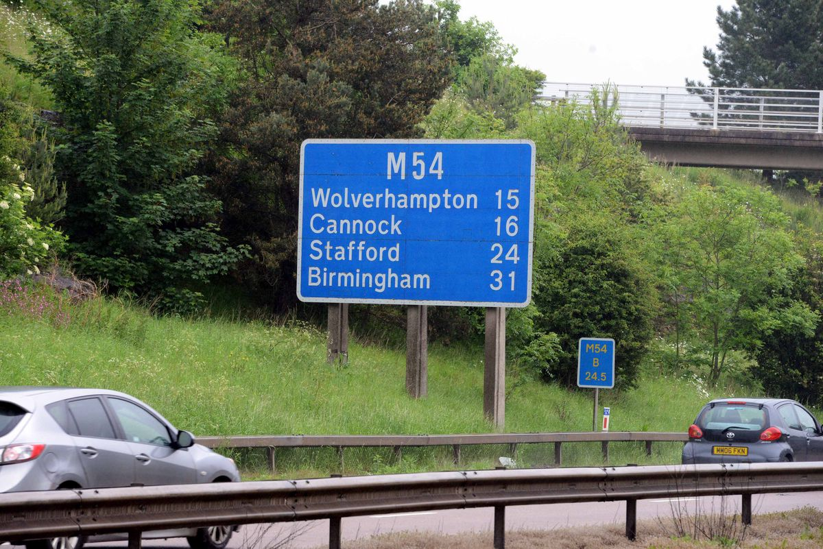 The M54 near Shifnal