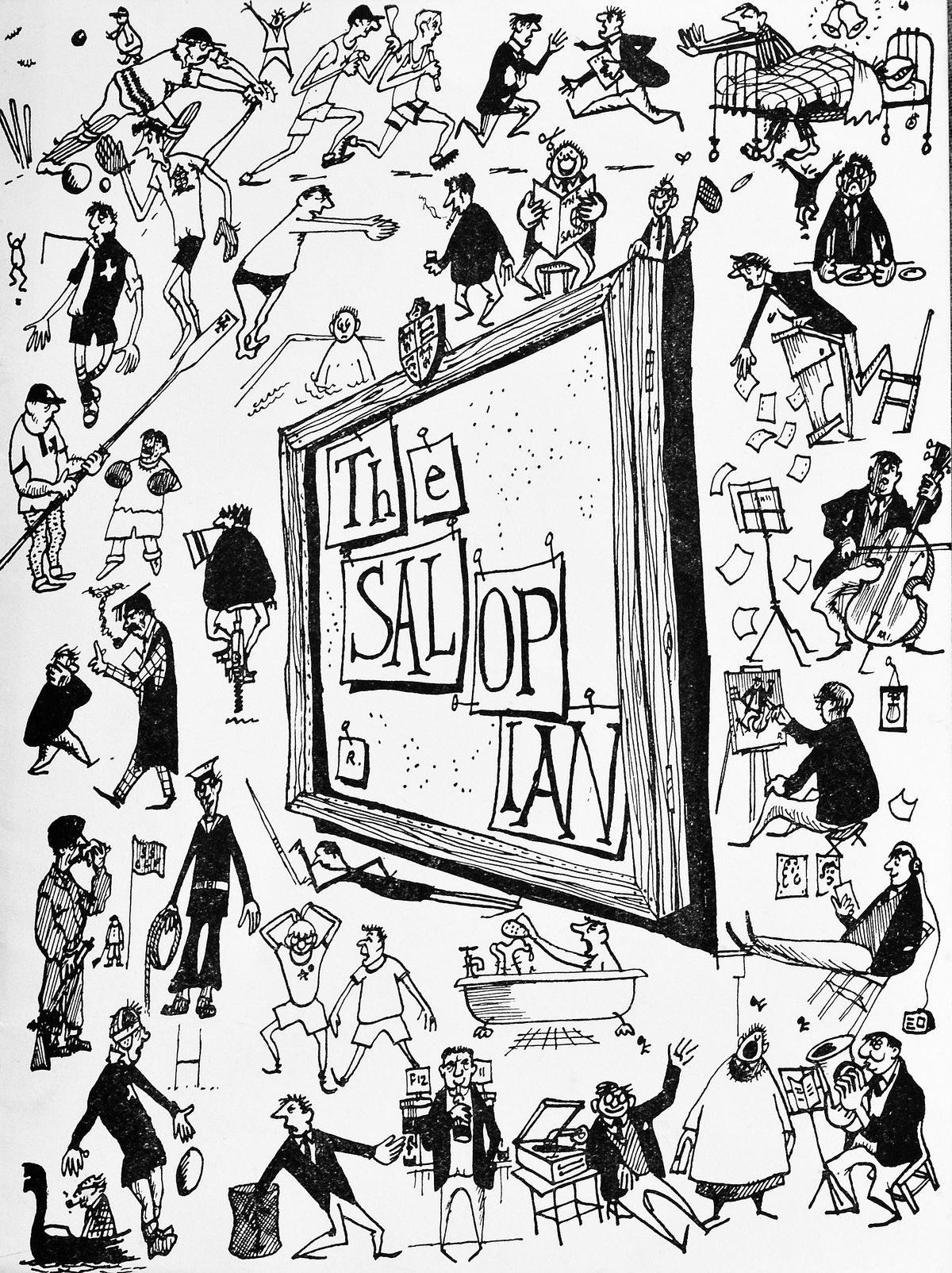 A 1950s issue of The Salopian featuring Willie Rushton cartoons. Picture courtesy of Laurence Le Quesne.