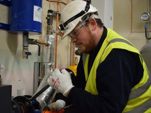 Electrical apprentice Ashley Smith at Dodd Group