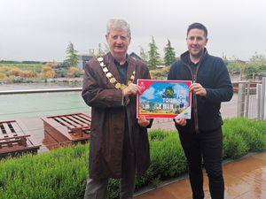 Mayor of Shrewsbury Julian Dean met Love2Stay general manager Chris Skitt