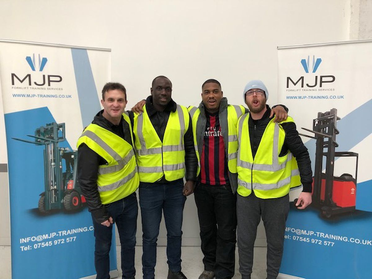 Some of the latest learners to complete their training. Roger Pickett, Babourcar Drammeh, Lorne Salandy, and Ian Beirne