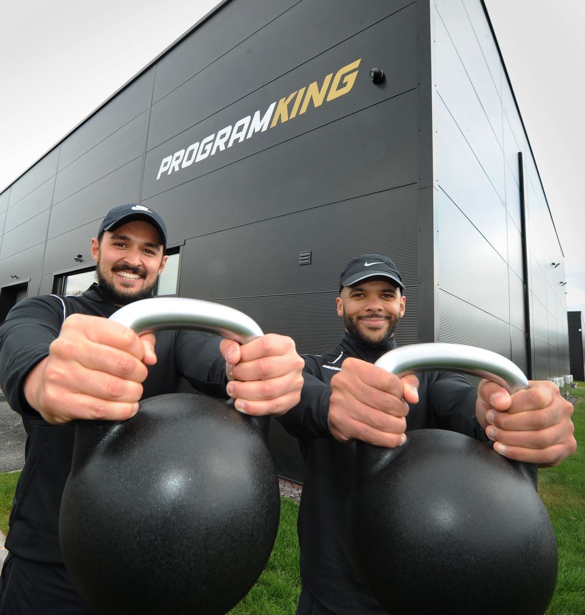 At his new training facility, (left) owner Elliott Sterling, with (right) coach Arran Bawa, at Program King, Market Drayton