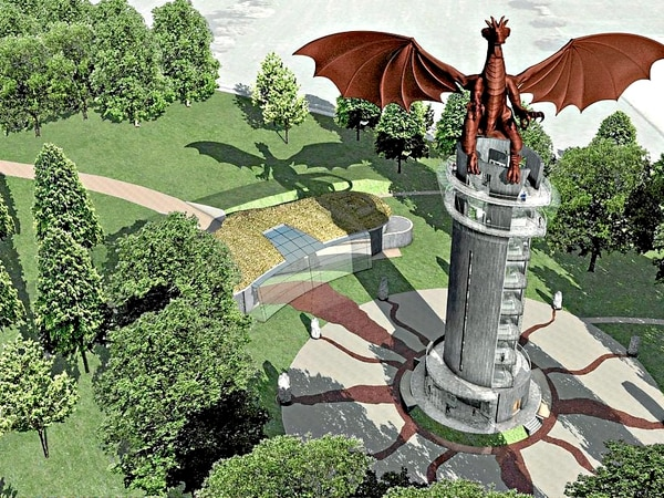 £3 million plans for 80ft dragon on Shropshire border are starting to sparkle
