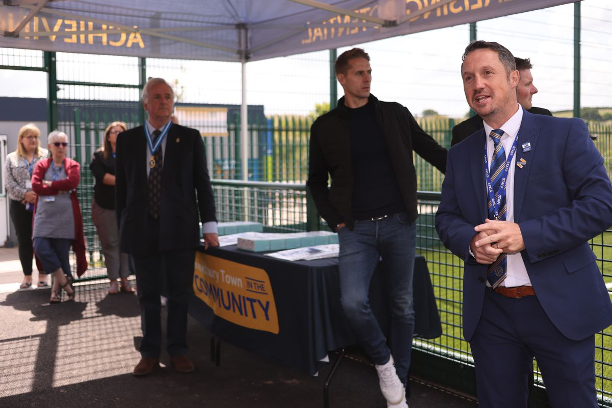 Jamie Edwards - Chief Executive Officer. - Shrewsbury Town in the Community 3G Pitch official opening. (AMA)