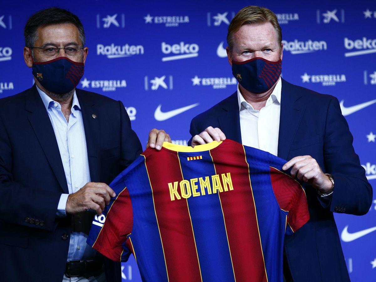 Ronald Koeman is the new Barcelona head coach