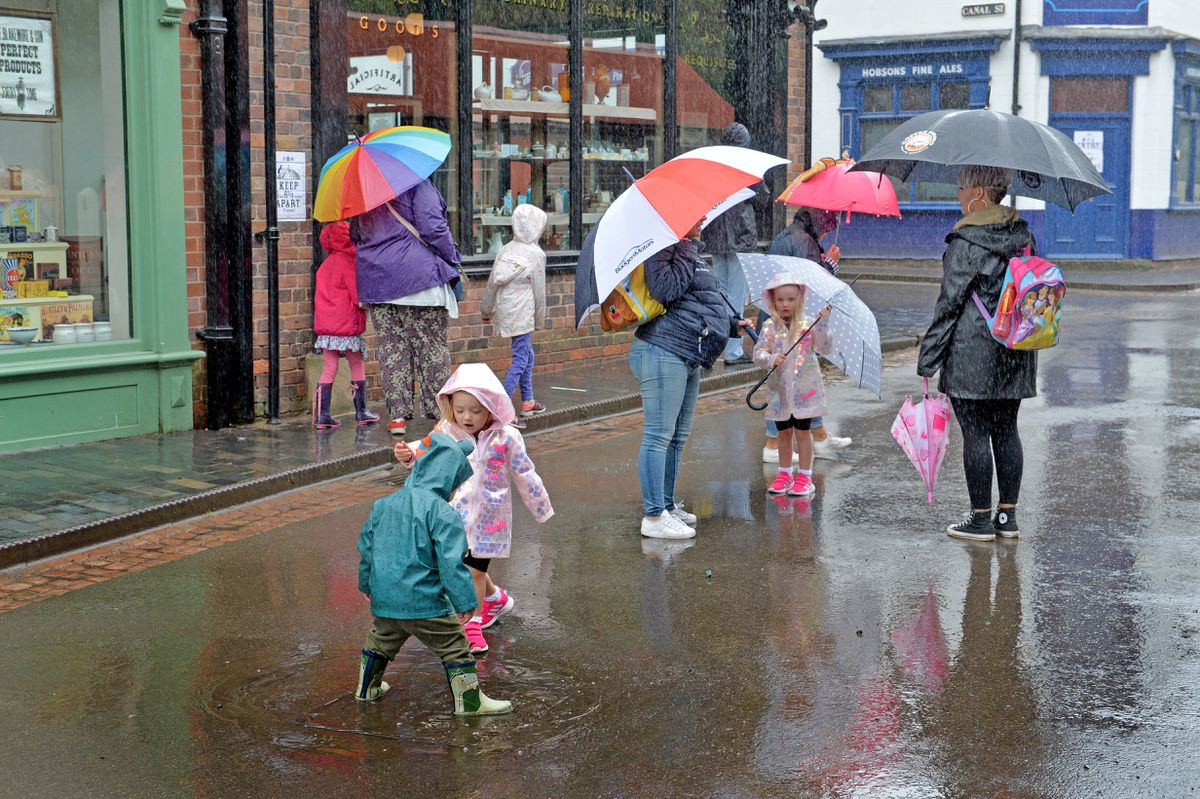 Rain did not put off the visitors to Blists Hill Victorian Village