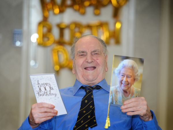 Gordon Garbett celebrating his 100th birthday