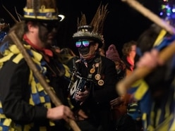 In Pictures: Morris dancers take part in ancient wassailing ritual