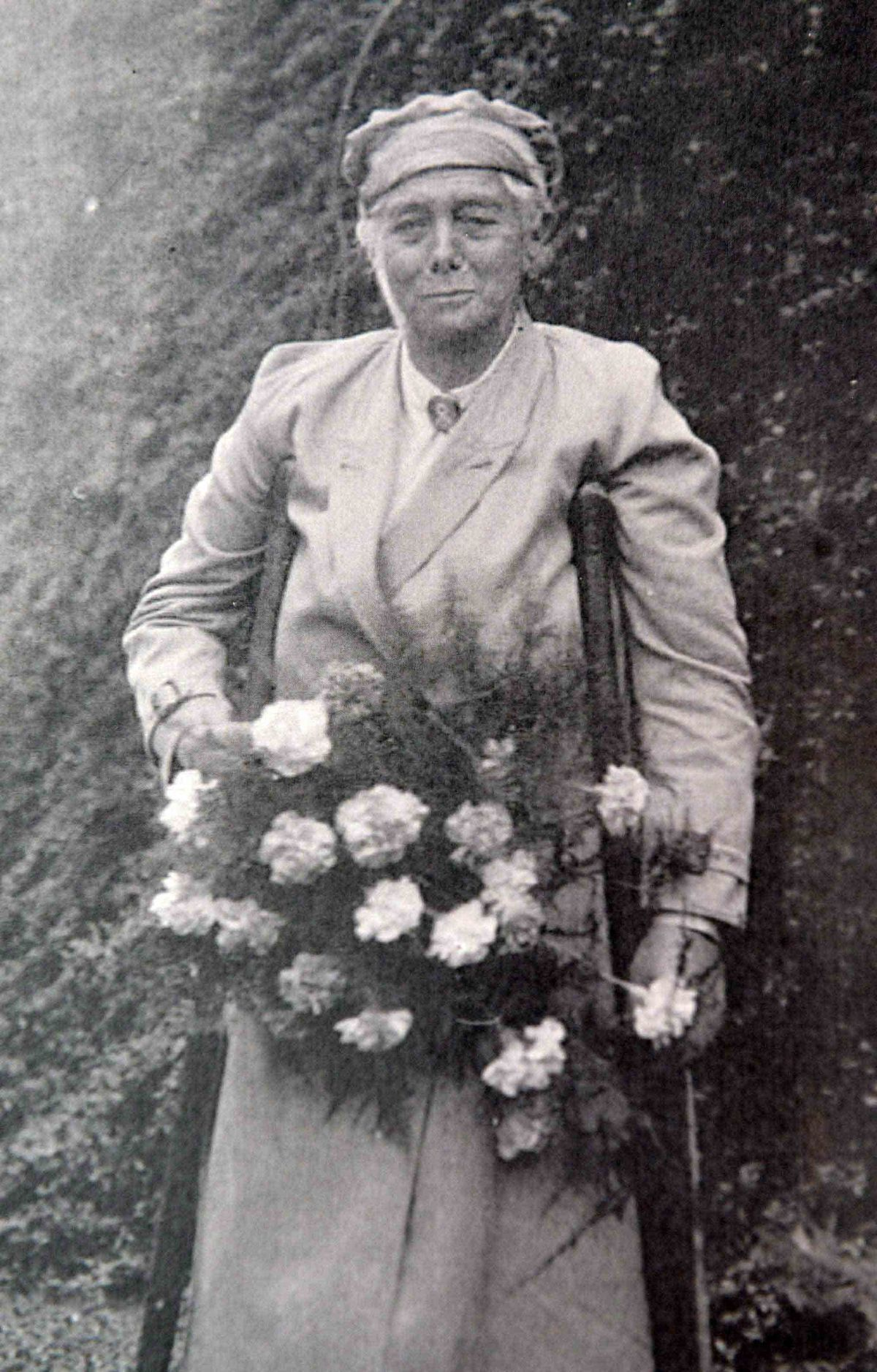 The college is 90 years old. Here is founder Agnes Hunt