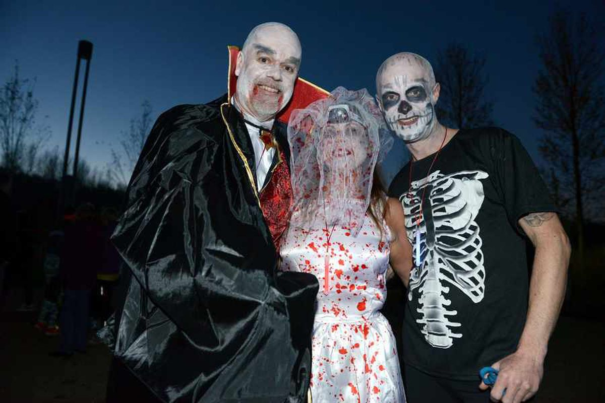 Video and pictures: Hundreds turn out for Telford Dark Run