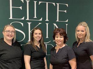 Julie Newton, Fliss Ashton, Anne Ashton, Niki Gittins from Elite Skin Studio in Newport