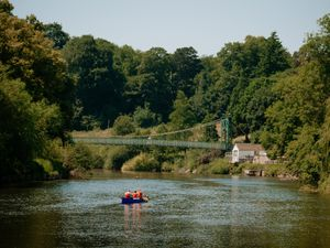 Shrewsbury - Near the Welsh Bridge overlooking the River Severn.