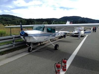 Plane makes emergency landing on road in Croatia