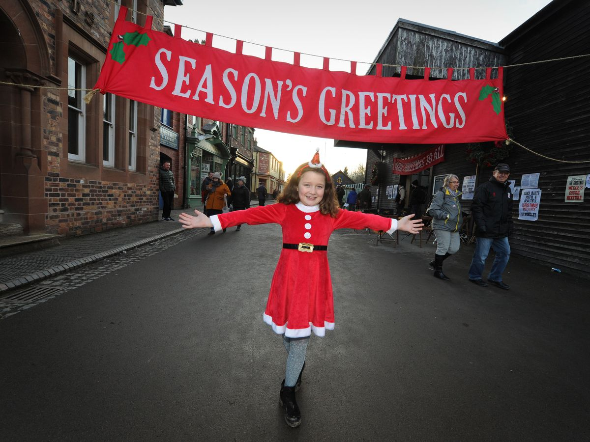 Rosie Kendrick, aged 8, at at Blists Hill Victorian Town