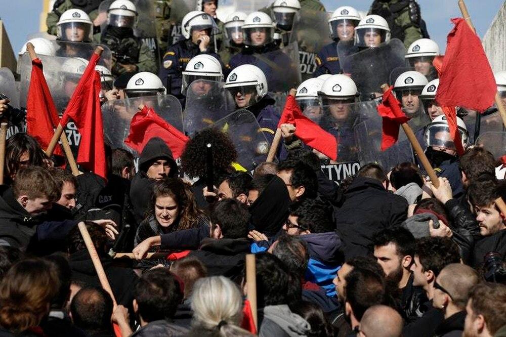 Greek metro halted, ships docked in protest over proper…