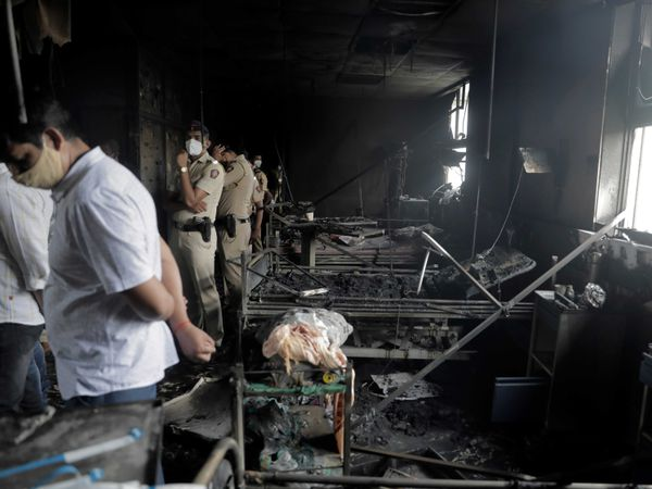 Indian ICU ward after a fire