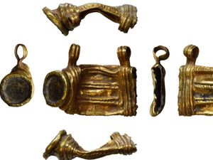 The Roman gold amulet case discovered in the Condover area.