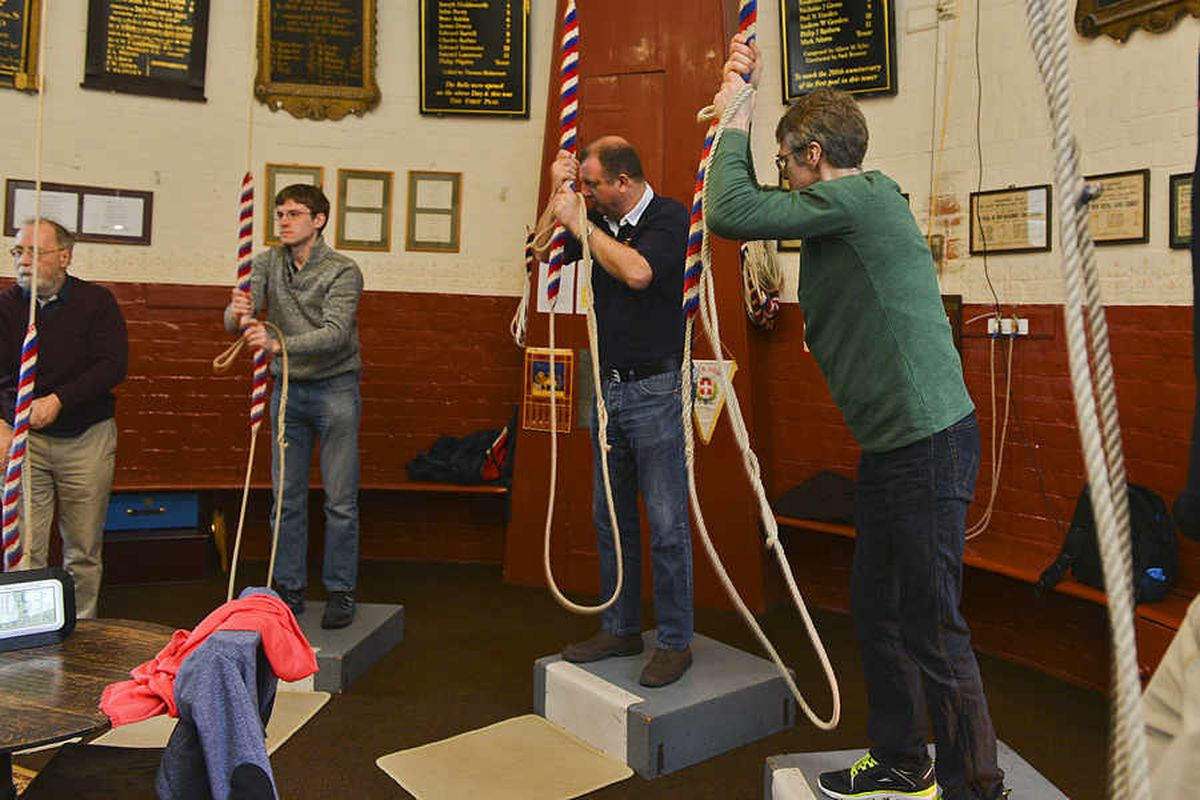 Watch: The bells ring out in Shrewsbury for a-pealing competition