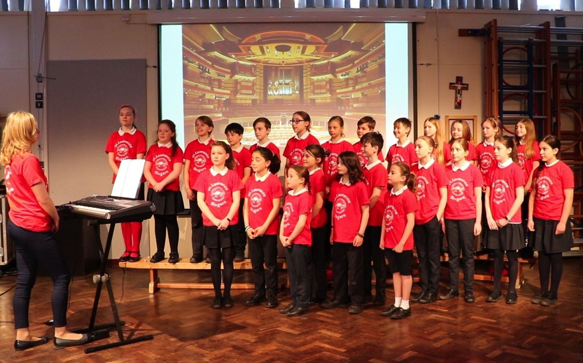 St Lawrence's Primary School, Church Stretton, put on their own show after the Big Sing was cancelled