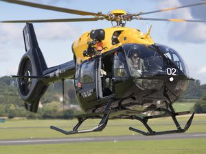 One of the RAF Shawbury helicopters