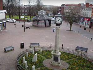 Cannock town centre is virtually deserted under coronavirus lockdown