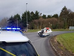 Mystery boat blocks Shropshire roundabout traffic