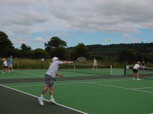 Bishop's Castle Tennis Club in happier times