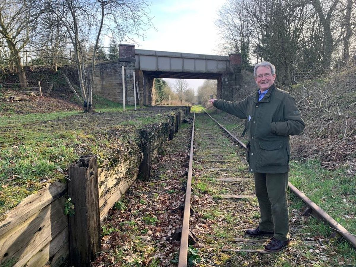 Owen Paterson MP at the Park Hall Halt