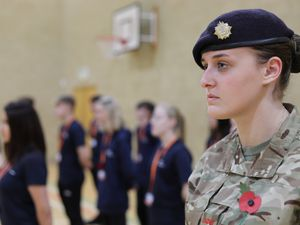 Telford College held a service in its sports hall led by the college's public uniformed services students