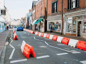 Temporary measures in Church Street, Oswestry, last year