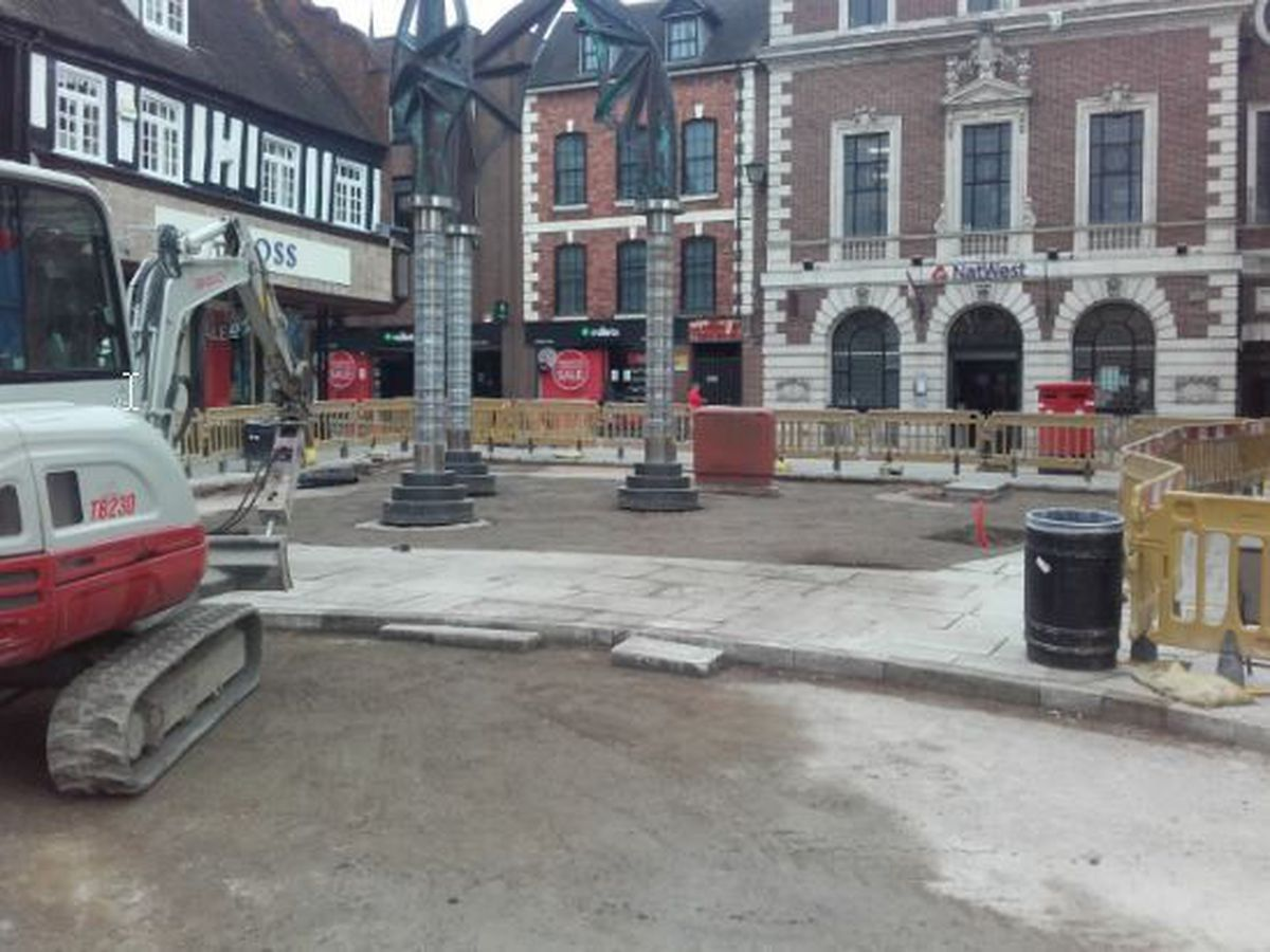 Old sandstone benches will be replaced with wooden ones at Darwin's Gate